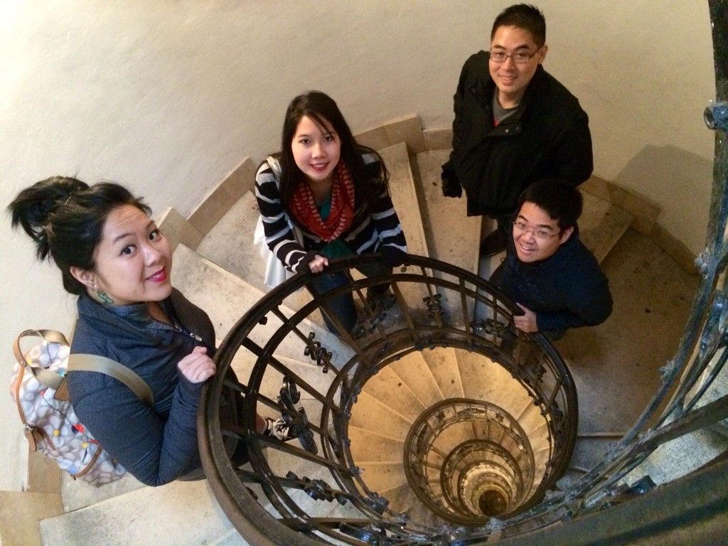 Up to the top of Saint Stephen's Basilica