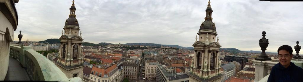Panorama at the top of Saint Stephen's Basilica