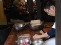 Skewering eel at the most famous eel restaurant
